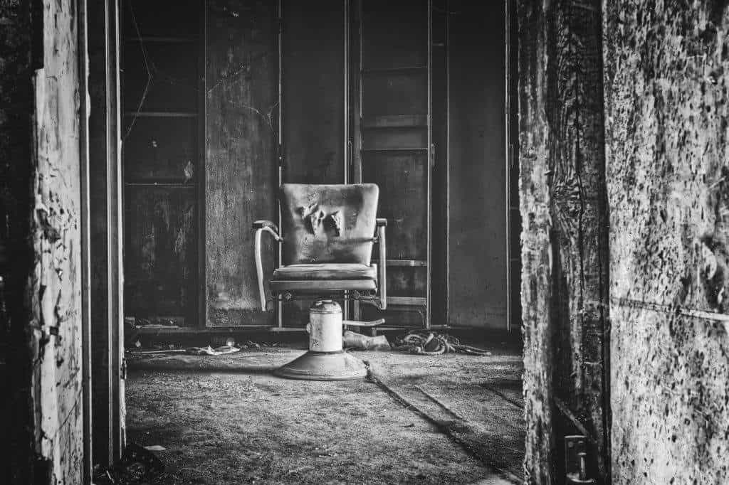 old black chair